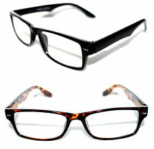 Men's Clear Lens Eye Glasses small Wayfarer brown or black Frame Nerd Hipster