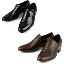 Mooda Mens Leather Loafer Shoes Classic Formal Lace up Dress Shoes Croshang