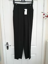 Marks and Spencer Womens Black Straight leg Trousers Size 8 Long BNWT