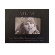 natural slate photo frame 6 x 4 engraved rectangle or heart picture personalised