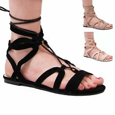 LADIES WOMENS STRAPPY SUMMER SANDALS GLADIATOR STYLE FASHION HOLIDAY SHOES