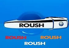 2pcs + 2FREE Decals ROUSH Ford MUSTANG Racing Door Handle Decal Sticker Emblem