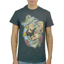 Popeye Strong To The Finish! Men's Black T-shirt NEW Sizes S-XL