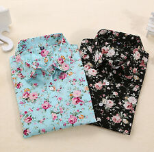 Blouses Blouses Turn Down Blouse Collar Floral Tops Long Sleeve Shirt