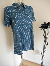 NEW WHITE STUFF TUNIC SHIRT TEAL BLUE SUMMER BLOUSE TOP UK SIZE 8-18
