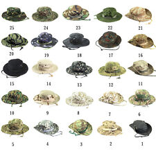 Camo Cover Military Wide Brim Camouflage Cap Camping Hunting Round Hat Outdoors