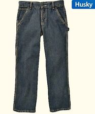 NEW NWT Boy Faded Glory Husky  Boys' Carpenter Jean SZ10H,12H,16H Adjustable