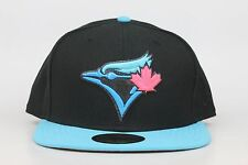 Toronto Blue Jays Black Aqua Blue Infrared New Era 59Fifty Fitted Hat