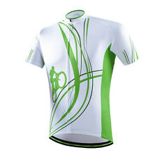 Green Riding Men's Cycling Jerseys Coolmax Bicycle Mtb Bike Cycling Shirt S-5XL