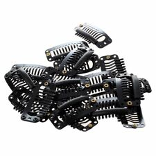 20pcs Black Nine-tooth Clip for hair extension snap clip for DIY use 32MM L CP