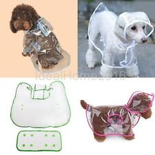 Pet Dog Puppy Rain Coat Clothes Hooded Waterproof Jacket Rain Poncho Size XS-L