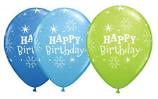 Happy Birthday Sparkle 1x 28cm Blue Green Balloon Party Supplies Decorations