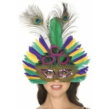 Adult Deluxe Mardi Gras Feather Eye Mask