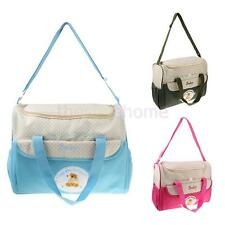 Large Baby Diaper Nappy Changing Bag Mummy Bag Messenger Tote with Changing Mat