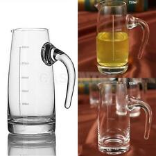 Clear Glasses Graduated Jug Beer Mugs Water Pot Bottle Wine Stein with Scale
