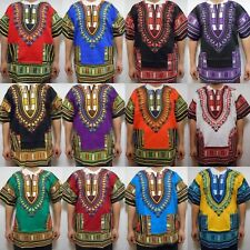Men's African Dashiki Shirts Women's Dress Boho Hippie Kaftan Best Colors 1size