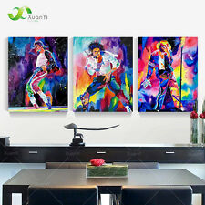 3pc Michael Jackson Modern Abstract Canvas Oil Painting Handcraft Home Decor Art