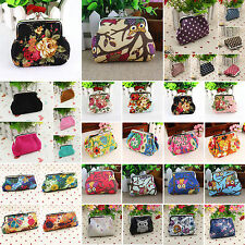 Womens Coin Card Iphone Holder Bag Ladies Floral Wallet Clutch Purse Handbags