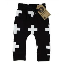 Black Cross Pants Baby Toddler Cute Different Soft Punk Fashion Rockabilly Punk