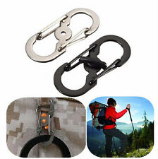 Buckle Carabiner Camping locking Hook Clip Climbing Hiking S Ring Lock Keychain
