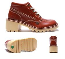 Womens Kickers Kopey HI Tan Leather Boots RRP £84.99