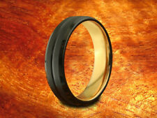 Black & Rose Gold Tungsten Band  6MM-Wedding Ring,Two Tone Ring,Anniversary Ring
