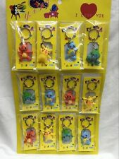 Lot Pikachu Pokemon Ball Key Chains Metal 3D Stereo Key Ring Party Gifts O13