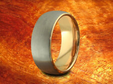 Brushed & Rose Gold Tungsten Band 8MM-Wedding Ring,Two Tone Ring,Anniversary!!!