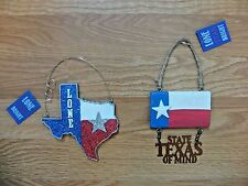 TEXAS LONE STAR STATE Ornaments RODEO HOUSTON Hanging Souvenirs *NWT*