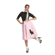 Pink Poodle Skirt 50's Scarf Sock Hop 1950's Retro Grease Sandra Dee Adult New