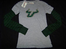 Pressbox Women's University of South Florida USF Bulls Long Sleeve Shirt NWOT