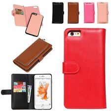 2in1 Zipper PU Leather Wallet Purse and Case Magnetic Cover for iPhone Cellphone