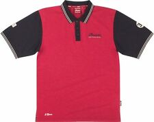 MENS RED MUNRO POLO BY INDIAN MOTORCYCLE® BLACK RED SIZE SM-3XL