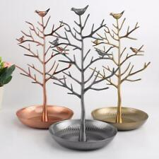 Bird Tree Earrings Necklace Jewelry Metal Holder Display Show Stand Rack