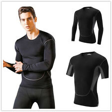 Men Compression Baselayer Body Thermal Under Base Layer Skin T-Shirt Tight Tops