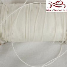 2mm POLYESTER BRAIDED WHITE CURTAIN BLIND PULL CORD MULTI UTILITY ROPE