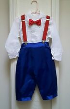 Vintage Aurora Toddler Girl's Satin Sailor Outfit-3T-Red, White &  Royal Blue