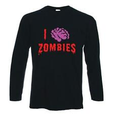 I LOVE ZOMBIES T-SHIRT - Funny  Night Of The Living Dead Goth  Zombie Halloween