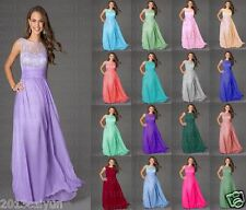 Gorgeous bridesmaid dress wedding formal party ball gown evening dress size 6-18