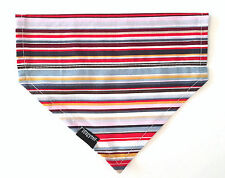 Dog bandana puppy bandana rainbow stripes tie up or slide over collar style