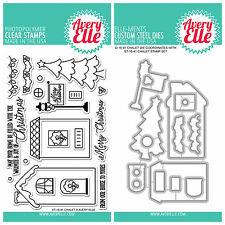 "Avery Elle ""CHALET"" Clear Stamps Only OR Clear Stamp and Die Bundle"