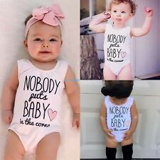 Kids Baby Infant Sleeveless One-piece Jumpsuit Cute Print Jumper Romper Outwear