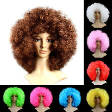 Women Men Halloween Clown Cosplay Funny Afro Curly Wig Fancy Party Dress Costume