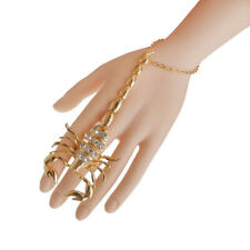 Scorpion Adjustable Slave Finger Ring Hand Chain Bracelet Wrist Jewelry