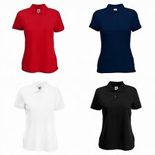 Fruit of the Loom Womens/Ladies Lady-Fit Short Sleeve Polo Shirt