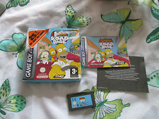THE SIMPSONS ROAD RAGE GAMEBOY ADVANCE GAME BOXED
