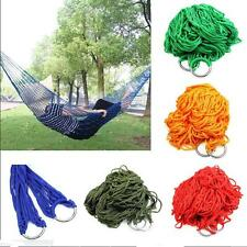 Swing Portable Hammock Hanging  Sleeping Bed Travel Camping Nylon Outdoor Mesh