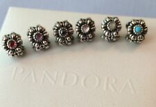 Authentic PANDORA Birthday Blooms Charm *YOUR CHOICE*
