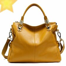 Women Genuine Leather Bag Ladies Tote Designer Brand Handbags Shoulder Bags
