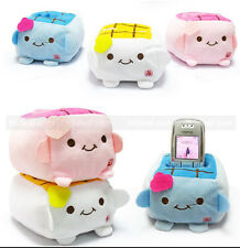 Cartoon Tofu Holder Seat New Cute Stand Plush Cell Phone Protect Block Mobile